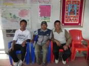 Kancha with the Headmaster and Village Committee reporesentitive